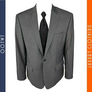 JOHN VARVATOS 46R Gray 2 Button Blazer Sport Coat